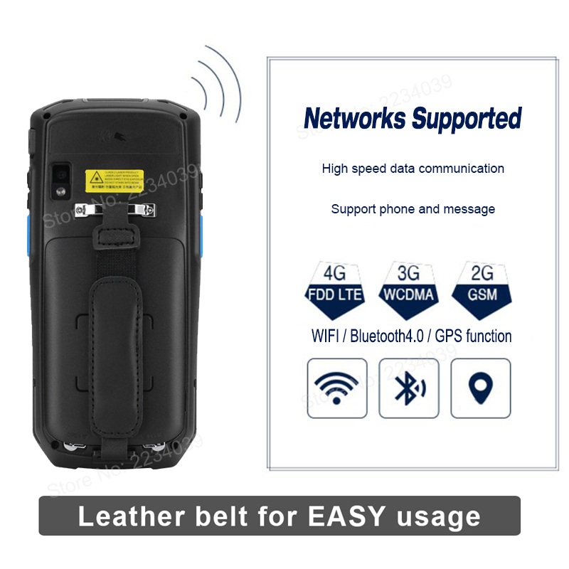 5 0 inch 1D/2D QR Barcode Scanner NFC WIFI PDA Android 7 0 5 Inch Wireless  Portable Bar Code Rearder Handheld POS Terminal