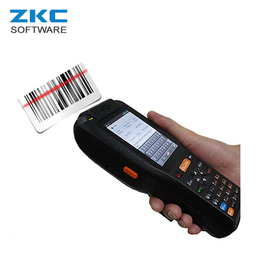 ZKC PDA3506S WCDMA 4G NFC RFID Android 5 1 Rugged Lottery Payment POS  Terminal with Built in Printer Barcode Qr code Scanner