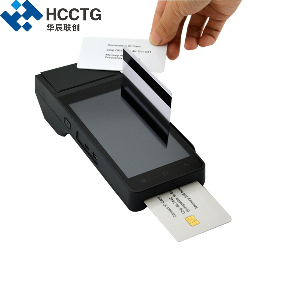 HCCZ90 4G Payment Device WIFI GPRS Bluetooth NFC RFID Chip Magnetic Card  Reader With Printer EMV Smart Android POS Terminal